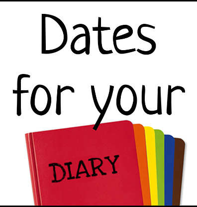 Image result for dates for your diary